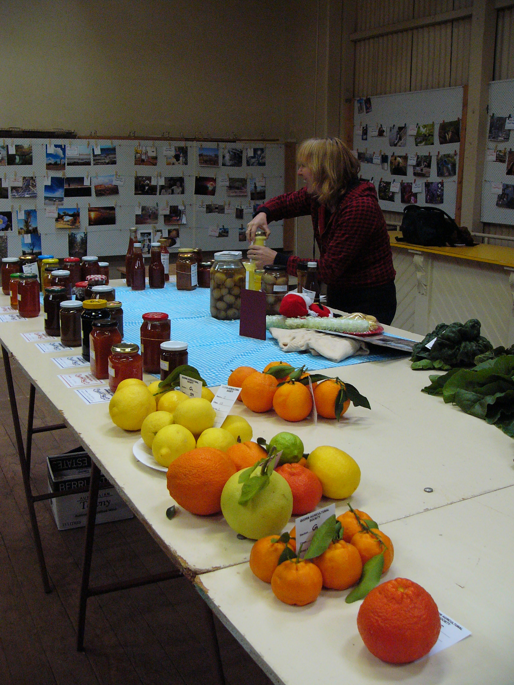 Produce and Cooking entries at Memorial Hall during the Quorn Agricultural Show